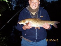 Carl Chadwick with a Wharfe Barbel.