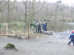 Work Party at Coppice Pond, Feb 2017