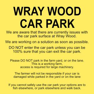 Working on a fix for Wray Wood Car Park