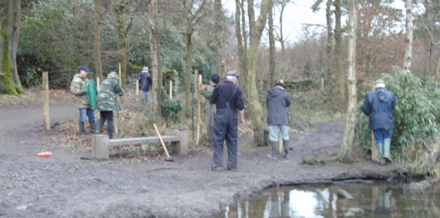 Work Party, Coppice Pond. Bingley angling club