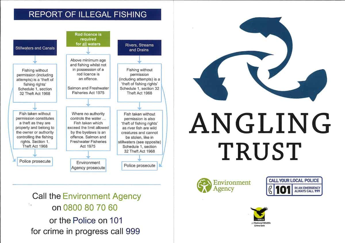 Angling Trust Illegal fishing information