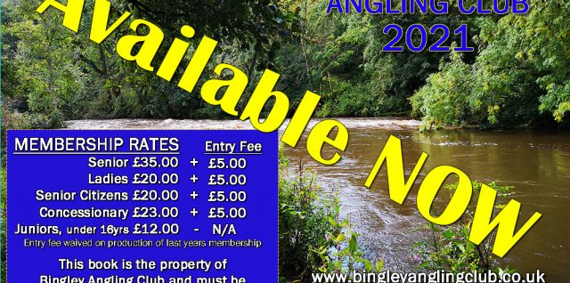 Bingley angling club 2021 Yearbook cover