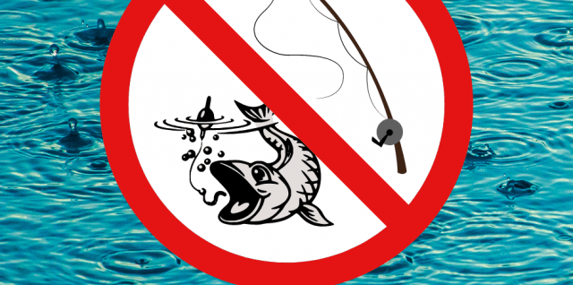 no fishing sign, Bingley AC